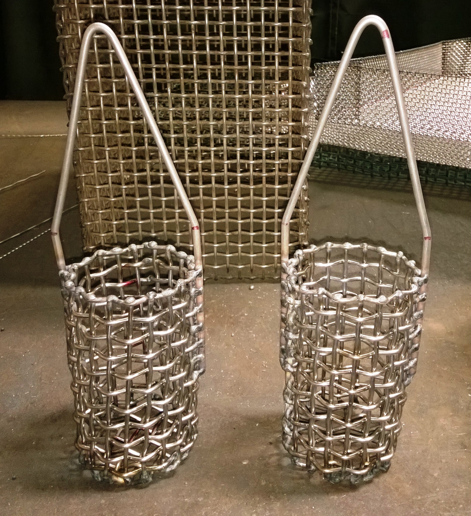 Basket Weaving Supply Companies : Parts washing mesh baskets weave alloy